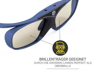 3D Brille für Brillenträger